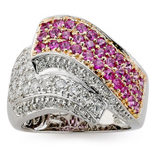 DFAC by Neda Behnam 18k Two-tone Gold 1ct TDW Diamond and Sapphire Ring