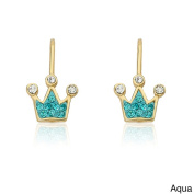 Molly Glitz 14k Goldplated Crystal Crown Earrings