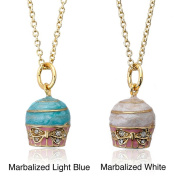 Little Miss Twin Stars 14k Goldplated CZ and Enamel Frosted Cupcake Necklace