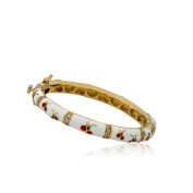 LMTS Girls 14k Goldplated Cubic Zirconia Oval White Bangle