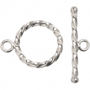 Silver-plated Metal Findings Rope Toggle Clasp