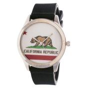"California Republic Silver Case with Black Rubber Strap Men""s Ladies Watch"