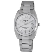 Hector H France Men's 'Fashion' White-Dial Quartz Watch with Stainless-Steel Band