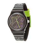 Airwalk Retro Analogue Black Case and Logo on Dial with Black Silicone Strap Watch