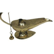 30cm Genie Lamp - Ornate Aladdin Lamps - Incense Burner