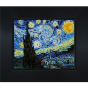 overstockArt Vincent Van Gogh Starry Night 20cm by 25cm Framed Oil on Canvas