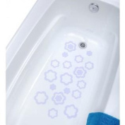 Adhesive Flower Bath Treads- White, 21 Count