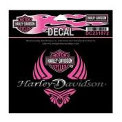 Harley-Davidson Women's Diva Wings Bar & Shield Decal SM Size DC231072