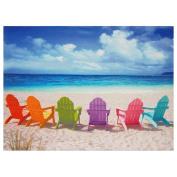 Beach Chairs Canvas Wall Art