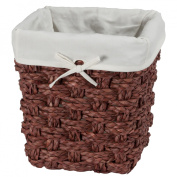 Chunky Weave 2 Waste Basket - Brown