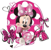 18cm MINNIE MOUSE BOW Mickey Removable Wall Decal Sticker Art Disney Home Decor 18cm wide by 18cm tall