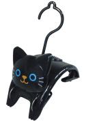 "Cat ""Small Clothespins Hanger"" Black ME232"
