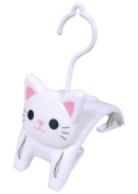 """Cat """"Small Clothespins Hanger"""" White ME231"""