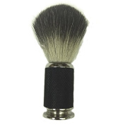 100% Super Fine Badger Shaving Brush with a Heavy Stunning Black Textured Handle By Edward London & Co.