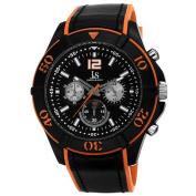 Joshua & Sons Men's Japanese Quartz Chronograph Double Layer Strap WatchStrap Watch