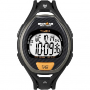 Timex Men's T5K335 Ironman Sleek 50-Lap Black/Orange Watch