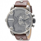 Diesel Men's DZ7258 Brown Leather Strap Grey Dial Chronograph Watch
