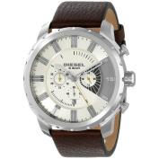 Diesel Men's DZ4346 Brown Leather Quartz Watch