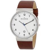 Skagen Men's SKW6082 Ancher Brown Leather Watch