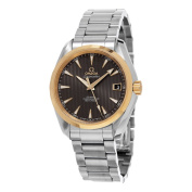 Omega Men's 231.20.39.21.06.004 'Seamaster 46m Taupe Dial Stainless Steel Two Tone Swiss Automatic Watch
