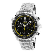 Omega Men's 212.30.44.50.01.002 'Seamaster Diver 90m Black/Yellow Dial Chronograph Stainless Steel Swiss Automatic Watch
