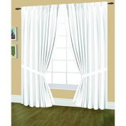 Editex Home Textiles Elaine Lined Pinch Pleated Window Curtain, 370cm by 210cm , White