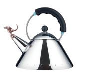 Alessi Michael Graves Tea Rex Tea Kettle Black Handle 9093 REXB