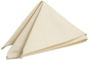 Riegel Satin Band Beauti-Damask Cottonblend 50cm by 50cm Napkins, Canaveral Sand, 8-Pack