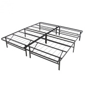 Platform Metal Bed Frame Foldable No Box Spring Needed Mattress Foundation Queen