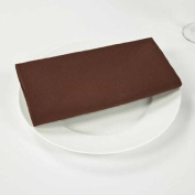 Riegel Premier Hotel Quality Napkins, 50cm x 50cm , 4 Pack, Brown