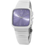 Rado Women's R28382342 'R5.5' Purple Dial White Ceramic Bracelet Swiss Quartz Watch