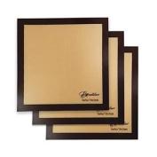 Set of 3 - 36cm x 36cm - Excalibur ParaFlexx Ultra Silicone Re-usable Non-stick Sheets