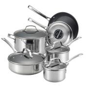 Genesis Stainless Steel Nonstick 10-Piece Cookware Set