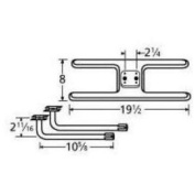 Music City Metals 11002-71102 Stainless Steel Burner Replacement for Select Charmglow and Kalamazoo Gas Grill Models
