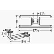 Music City Metals 10902-78402 Stainless Steel Burner Replacement for Gas Grill Models Sunbeam 3468-D and Sunbeam 3478