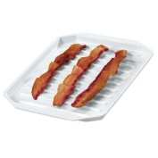 Microwave Bacon Platter, White