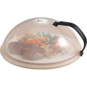 Miles Kimball Vented Microwave Cover with Handle - 25cm Diameter x 10cm High