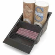 Grindmaster-Cecilware 70583 Condiment Holder, Holds 2-Cream/Sugar Canisters/Multiple Packets in Rear Compartment, Black