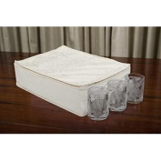 Marathon Housewares KW200006DMSK Deluxe Quilted Damask China Storage Cup/Glass Case
