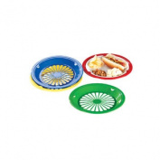 Miles Kimball Plastic Paper Plate Holders - Set Of 8 Assorted Colours
