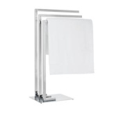 Torre & Tagus Metro Chrome 3-Tier Towel Stand