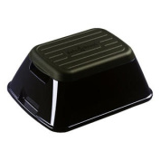 eNNOVEA Anti-Tip Safe-T-Stool and Carry Basket - Colour Black