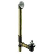 Westbrass D3264-05 Pull & Drain Bath Waste - 60cm . Make-Up, 17 Ga. Tubing - Polished Nickel