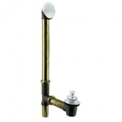 Westbrass D3264-50 Pull & Drain Bath Waste - 60cm . Make-Up, 17 Ga. Tubing - Powdercoated White