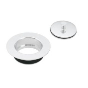 Westbrass D212-50 Universal Replacement Disposal Flange and Stopper - Powdercoated White