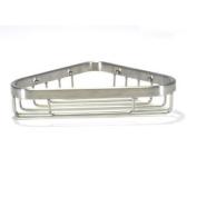 WingIts WCBSN6 15cm Long Corner Shower Basket, Satin Nickel Stainless Steel