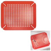 Kitchen Sink Mat Adjustable Contour Size, Red