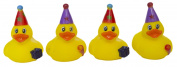 "Set of Four 5.1cm Rubber Duckies ""Party Time"""