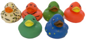 "Set of Six 5.1cm Rubber Duckies ""Assorted"""