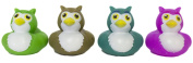 "Set of Four 5.1cm Rubber Duckies ""Owls"""
